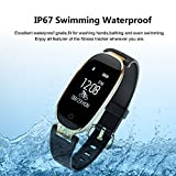Fitness Tracker For Women Heart Rate Monitors Step Counter Activity Trackers Smart Bracelet Smartwatches IP67 Waterproof Bluetooth Pedometer Wristband With Sleep Monitor For Android IOS Smartphone IPh