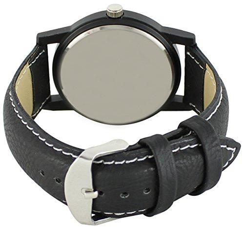 Om Designer Analogue Black Dial Men's & Boy's Watch (Rel-Denim Leather Strap)