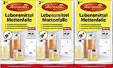 AEROXON Lebensmittelmottenfalle - Dreierpack = 6 Stück -