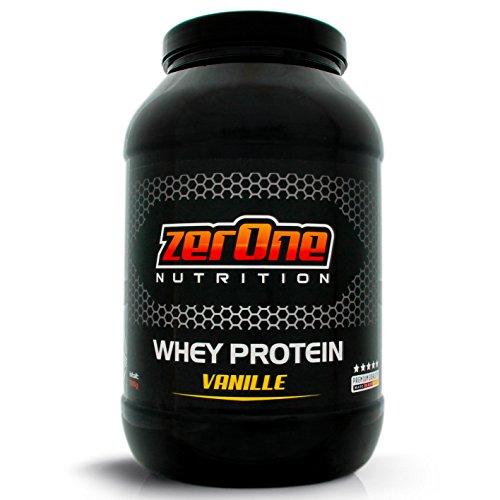 ZerOne Nutrition Whey Protein Eiweißpulver | Natürliche Zutaten | hochwertiges Proteinpulver | Low Carb Eiweiß-Shake | Muskelaufbau Fitness Training| 1000g (Vanille) - Whey Protein Booster Schokolade