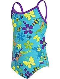 Zoggs Yaroomba–de flores de las niñas de sirena flores 26, niña, Mermaid Flower Yaroomba Floral, blue, multi, 22