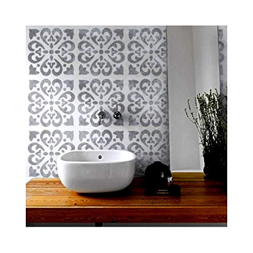 TANGIER FLIESE Wand Möbel Fußboden Schablone für Malerei - Mittel