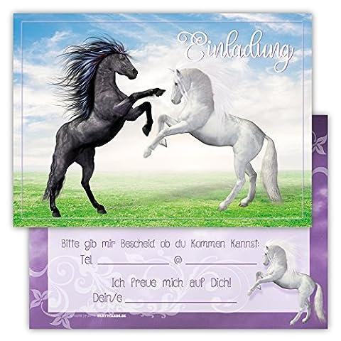12 Lustige Einladungskarten Set Kindergeburtstag Pferden Himmel Wolke Wiese Einladung Geburtstag Party Schimmel (Kostüm-party-einladung Für Kinder)