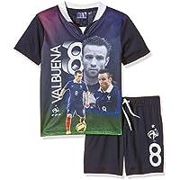 Desconocido FFF EP1002 Valbuena conjunto de piezas de 2-Camiseta de manga corta para niño, color azul (12 años, talla fabricante: 12Y)