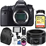 Canon EOS 6D DSLR Camera Bundle With Deluxe Backpack And Accessory Kit (9 Items)