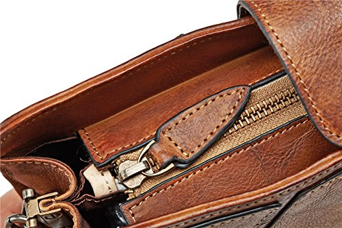 Genda 2Archer Vera Borsa in Pelle Morbida Pelle di Modo Delle Donne Cinghia Spalla Sottile (28.5cm* 4cm*17cm) Marrone