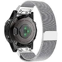 Cooljun pour Garmin Fenix 5S/5S Plus, Bracelet de Montre à remontage Rapide magnétique Milanais