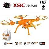 Syma X8C Headless Quadcopter 4CH 2.4GHz 6 assi droni 3D a 360 gradi, con fotocamera da 2 megapixel HD LED drone FPV tempo di volo leggero 10-12 minuti per il telefono iPhone IOS Android (arancia(orange)X8C)