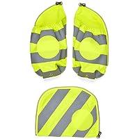 ergobag Sicherheitsset mit Seitentaschen und Reflektorstreifen, 3-teilig (Gelb)