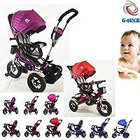 G4RCE® Premium Quality 4 in 1 Smart Design 3 Wheeler Trike Rider Tricycle Kids Trike With Rotating Seat UK (Pink)