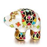 NINAQUEEN Elefante Mujer Abalorio Charm Plata 925 Esmalte multicolor Compatible con Pulsera Pandora Joyas Regalo para Cumpleaños Aniversario día de San Valentín Día de la Madre Navidad Niña Esposa