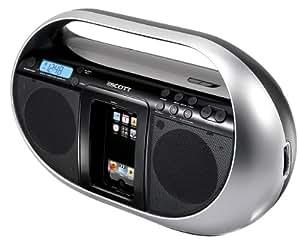 Scott i-SX 60 CS Radio portable CD pour iPod Radio AM/FM avec affichage digital