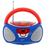 Sakar Super Hero Girls Boom Box avec lecteur CD et radio Boom Box mit , Multicolore (rouge / bleu)