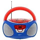 Sakar Super Hero Girls Boom Box avec Lecteur CD et Radio Boom Box mit und Rouge/Jaune
