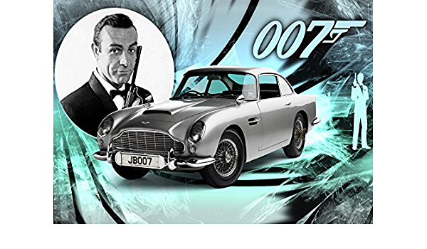 Sean Connery James Bond 007 Aston Martin Poster Art Print A0 A1 A2 A3 A4 Maxi