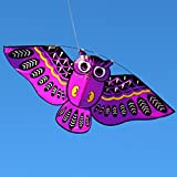 JAGENIE Nouveau Dessin animé Hibou Flying Cerfs-Volants pour Enfant Adulte Outdoor Fun Sports Jouet, Polyester, Violet, 110 * 50cm