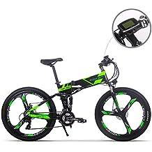 Bicicleta de montaña plegable y eléctrica para hombre MTB RT860, batería de iones de litio de 12,8 Ah, 7 niveles de velocidad, pantalla LCD de alta ...