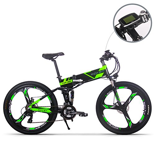 Vélo électrique Vélo de montagne VTT pour hommes Batterie Lithium-ion RT860 12.8Ah 7 niveaux...