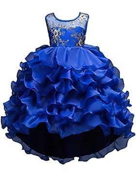Juleya Ragazze Vestito Principessa Tutu Abito Estivo Bambina Pizzo Abiti da Cerimonia Vestito Ragazza Elegante...