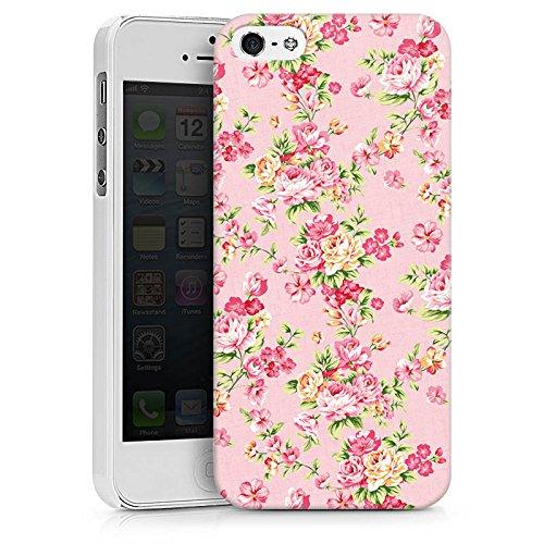 Apple iPhone X Silikon Hülle Case Schutzhülle Rosen Frühling Blumen Hard Case weiß