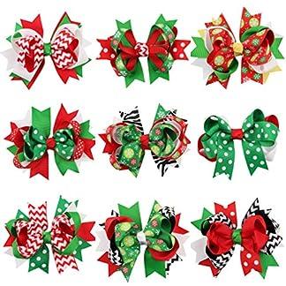 STOBOK cinta de grosgrain de navidad arcos pinzas de pelo de cocodrilo horquilla para bebés