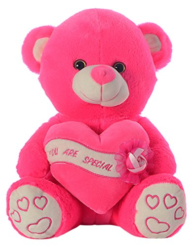 Dimpy Stuff Bear with Heart - U R Special, Hot Pink (50cm)  available at amazon for Rs.832
