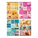 Disney Winnie the Pooh réutilisables la maison de Winnie l'Ourson et ses amis clair File Folder Holder, Lettre Taille, Lot de 4, Japan Import