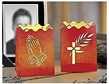LUMINARIA 8568500 Lichtertüte Andacht - 2er Set, Windlicht, Papier, 9 x 7.5 x 7.5 cm, Rot
