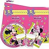 WOW Disney Minnie Mouse Complet fête Vaisselle Paquet pour 16
