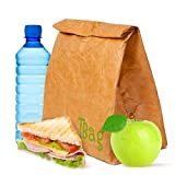 Braunes Papier Lunch Bag Wiederverwendbares SUPER STARKE Isoliertes Beschreibbares Nicht Zerreißbares T.Bag Brown