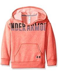 Under Armour Favorite Fleece Hoody-Pkc//Blk Sweat-Shirt à Capuche Fille