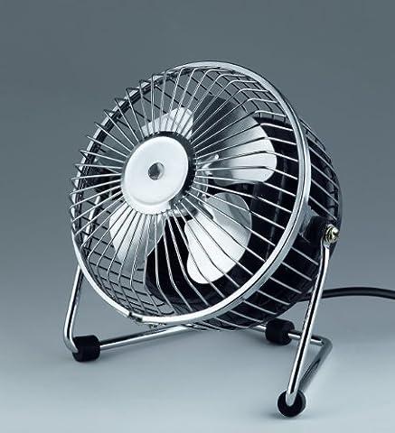 Reality leuchten ventilateur de table, 1 mini vitesse, interrupteur marche/arrêt à 13 w, ø 15 cm, chrome, r