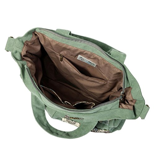 Chang Spent semplice big bag borsa di tela casuale delle donne Mobile Messenger , a a