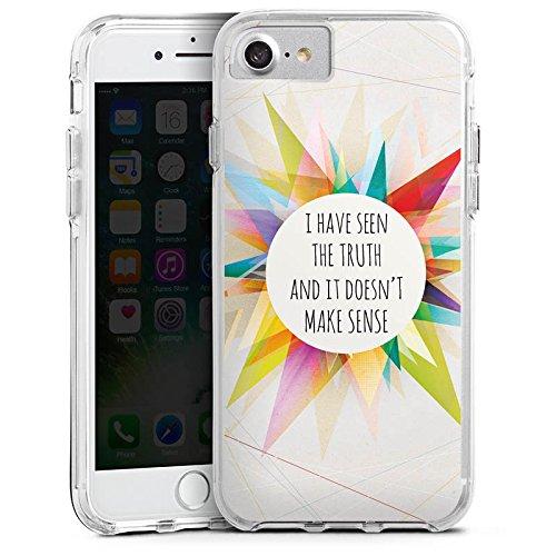 Apple iPhone 8 Bumper Hülle Bumper Case Glitzer Hülle Sayings Sprüche Phrases Bumper Case transparent