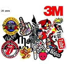 Elton 3M Vinyl Sticker Pack [20-Pcs], Lovely 3M Vinyl Musicals & Assorted Stickers For Laptop, Cars, Motorcycle, PS4. X Box One . Guitar Bicycle, Skateboard, Luggage - Waterproof Random Sticker Pack