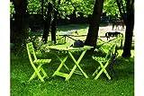 IPAE-PROGARDEN - Tavolo pieghevole bianco da giardino bianco TEVEBI L80h70p72cm