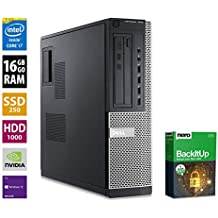 PC Gamer Multimédia Unité Centrale Dell 7010 DT - Nvidia Geforce GTX1050 - Core i7-3770 @ 3,4 GHz - 16Go RAM - 1000Go HDD - 240Go SSD - Graveur DVD - Win10 Pro 64 Bits (Reconditionné)