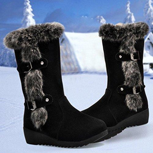 Neve Più Scivolosa Moda Calda Colorato Avvio Nere Velluto Donna tm Di Le Stivali Donne Spesso FwOx604qx