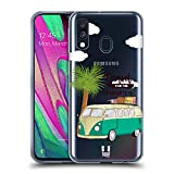 Head Case Designs Camioncino Avventura Estiva Cover in Morbido Gel Compatibile con Samsung Galaxy A40 (2019)