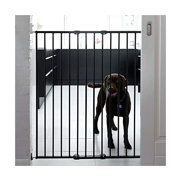 Bettacare Extra Tall Screw Fitted Safety Gate Black Bettacare Fits openings from 62.5cm to 106.8cm Screw fitted black or white powder-coated steel gate One-handed operation 2