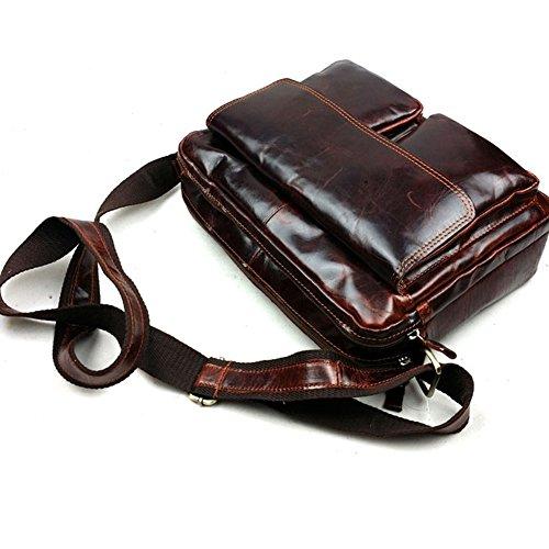 Missy Vetty Mnner Vintage Crossbody Tasche Messenger Schultertasche Aktentasche (Schokolade) Chocolate