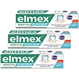 Elmex Dentifrice Sensitive Blancheur 75 ml - Lot de 3