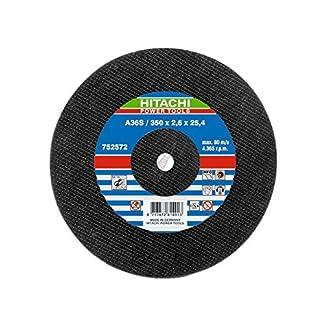 Hitachi 752572 Disco de Corte de Acero, 350 x 2.6 x 25.4 mm, Metal