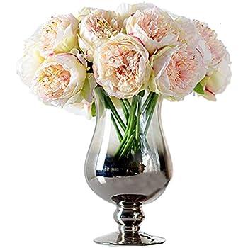 Zumuii Butterme 5 Têtes Fleur Bouquet Artificiel Pu Fleur De Pivoine Bouquets Nuptiale Mariage Fleurs Bouquets Fleurs