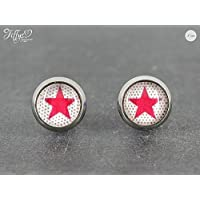 Ohrstecker Edelstahl * Cabochon - Stern Dots - 8 mm