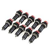 Wadoy 10 Stück Taster Einbauschalter Schalter Switch ON/OFF Push Button KFZ 11,5mm