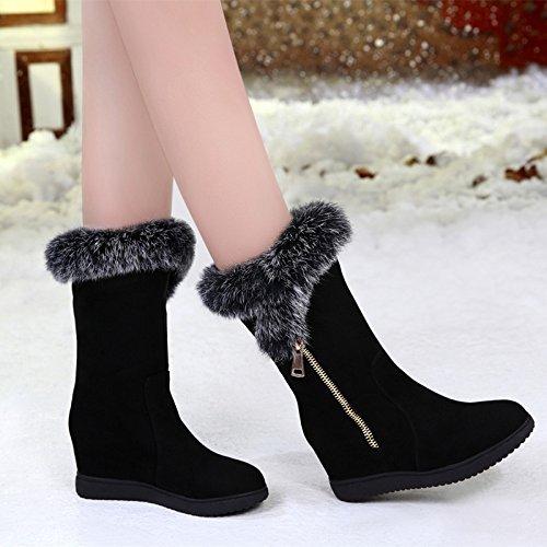 FLYRCX In autunno e in inverno la moda donna scarpe per il tempo libero con il caldo di velluto scarpe slip,38 35