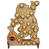 Cioccolatini in legno per albero di Natale con calendario per bambini ragazzi regali cremagliera decorazione religiosa hershey in vendita