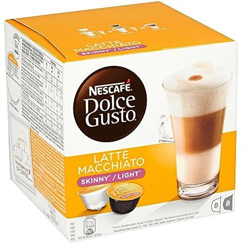 Nescaf? Dolce Gusto Skinny Latte Machiato 16 Capsules, 8 servings (Pack of 3, Total 48 Capsules, 24 servings)