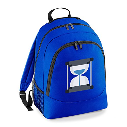 apparel-printing-emoji-hourglass-with-flowing-sand-universal-backpack-sapphire-blue